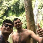 Enjoy the waterfall